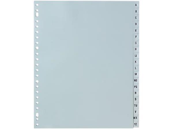 5 Star tabbladen A-Z, ft A4+, 23-gaatsperforatie, grijs