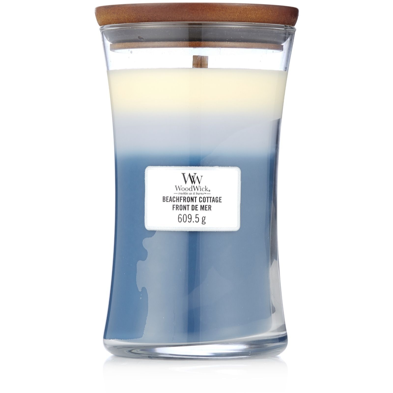 Woodwick Geurkaars Trilogy Beachfront Cottage Large Candle