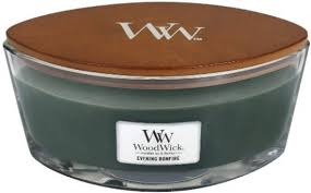 Woodwick Geurkaars Evening Bonfire Ellipse Candle