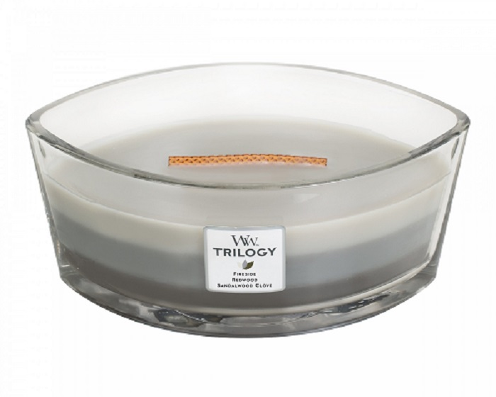 Woodwick Geurkaars Trilogy Warm Woods Ellipse Candle