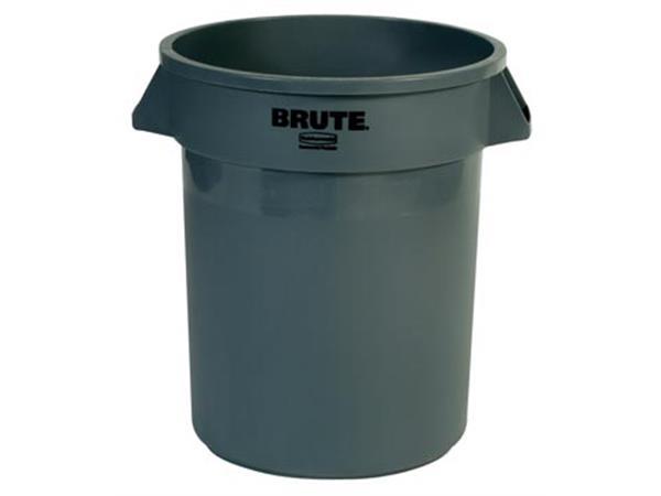 Rubbermaid afvalcontainer Brute, zonder deksel, 76 liter, grijs