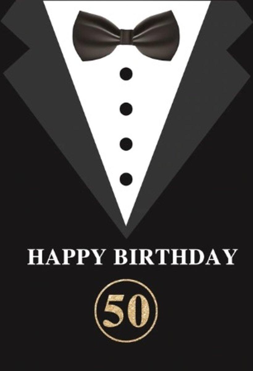 Verjaardag - Versiering - Wanddoek van Polyester - 80cm(b)x120cm(h) - Man - 50 jaar - Abraham