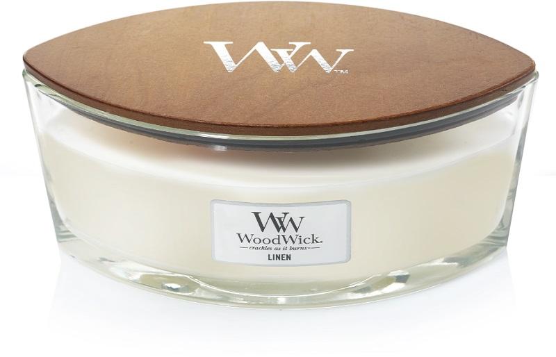 Woodwick Geurkaars Linen Ellipse Candle