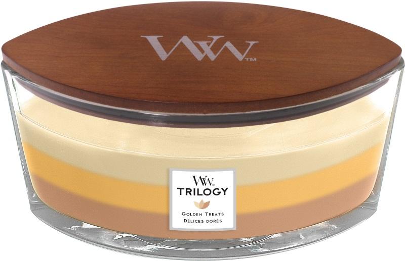 Woodwick Geurkaars Trilogy Golden Treats Ellipse Candle